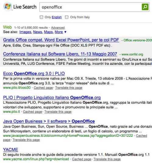 live-search