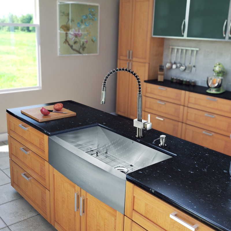 all in one 36 inch farmhouse stainless