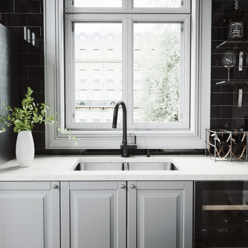 gramercy faucet in matte black