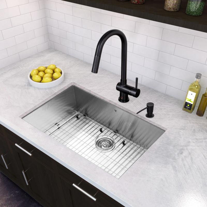 16 gauge single bowl kitchen sink