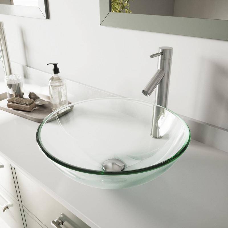 vigo crystalline glass vessel bathroom