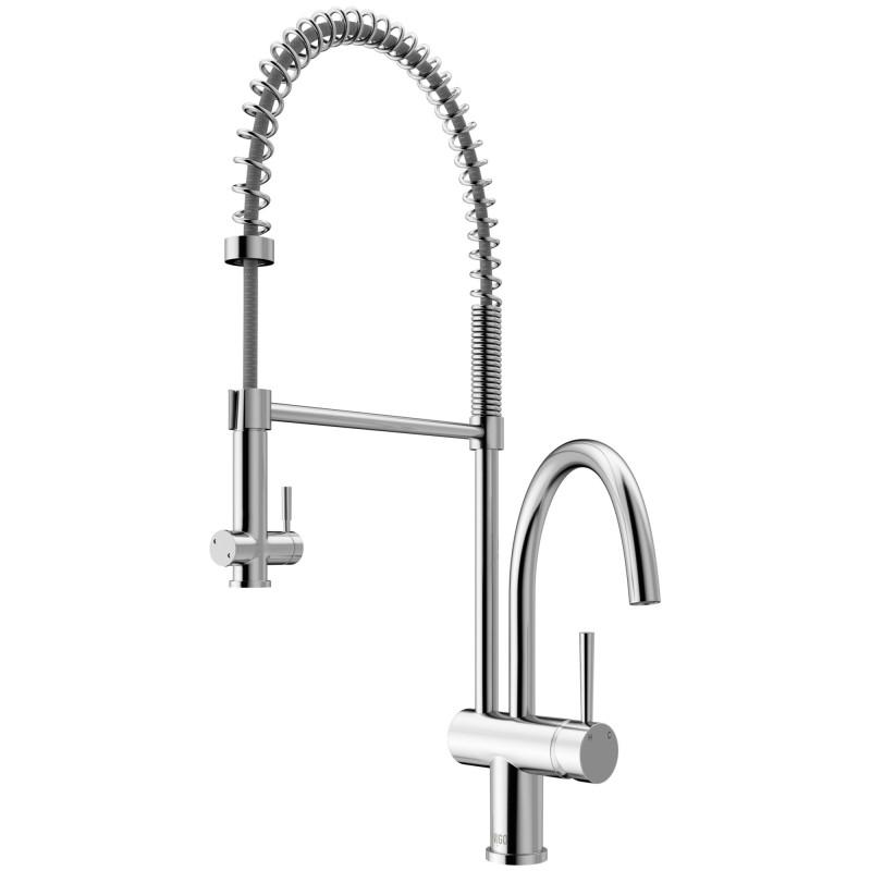 vigo dresden pull down spray kitchen faucet