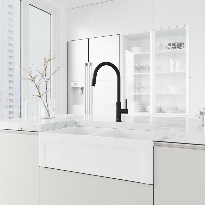 vigo bristol pull down kitchen faucet