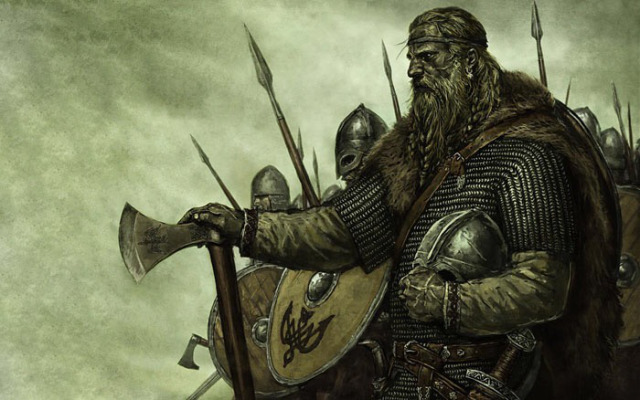 Odin's men rushed forwards without armour
