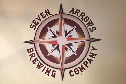 seven arrows brewery sign viking forge design