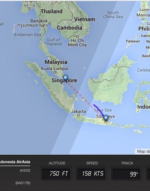 QZ8501 missing AirAsia flight