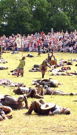 Vichinghi morto sul campo di battaglia
