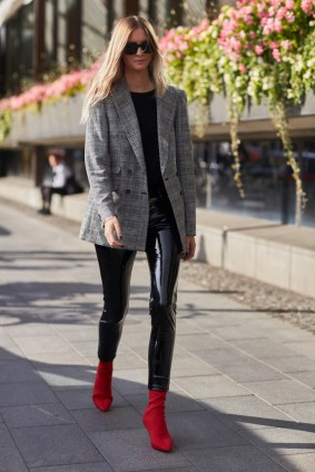 Image result for check jacket streetstyle