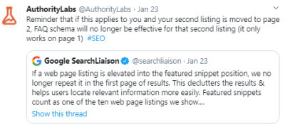 authoritylabs tweet with comment