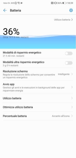 Huawei P20 autonomia2