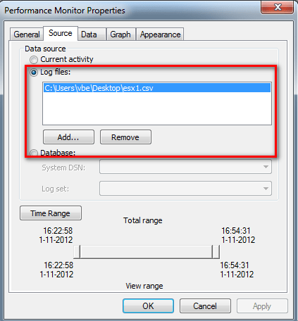 How to analyze and compare two or more ESXTOP logs with
