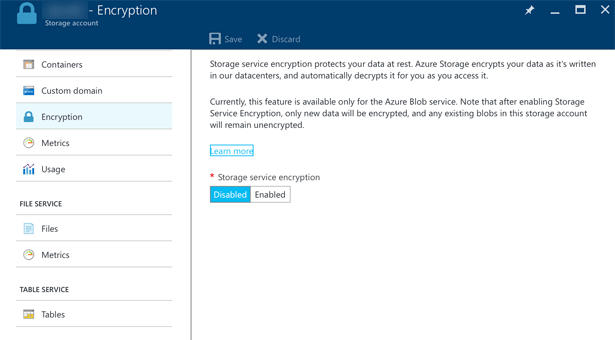 Azure Storage Service Encryption for data at rest is now general available