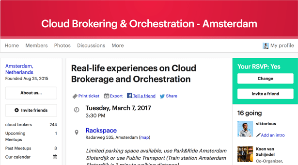 Meetup: Real-life experiences on Cloud Brokerage and Orchestration