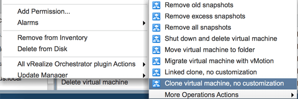 Add vRO workflows to the context menu in vCenter Server