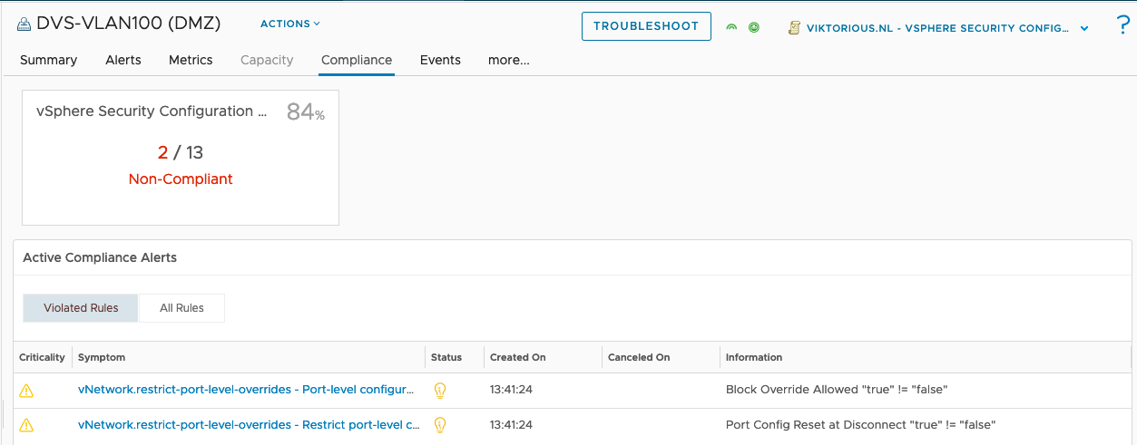 Improving vSphere security with vRealize Operations 8.x compliance