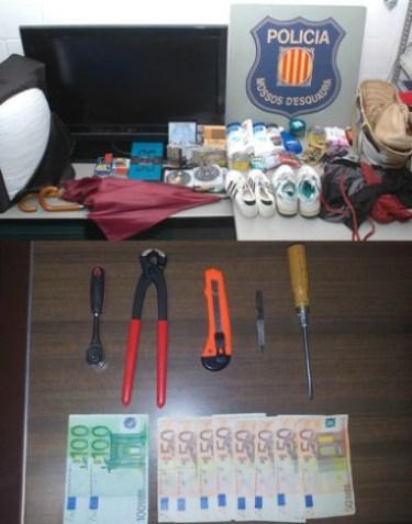 Material recuperat dels robatoris
