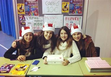 La Berta, la Maria, la Tani i la Paula, alumnes de l'Illa de Rodes. Foto: Maria Gómez