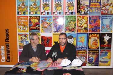 L'alcalde Carles Pàramo el regidor de Festes Juan M. Fernández, Ferdy