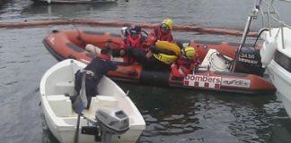 Simulacre d'incendi embarcació