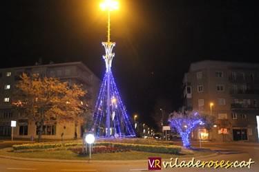 Encesa de les llums de Nadal a Roses