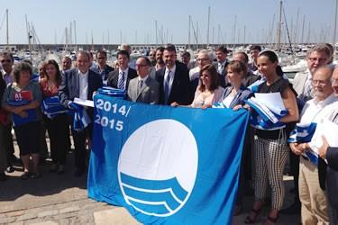 Bandera Blava al Port esportiu de Roses