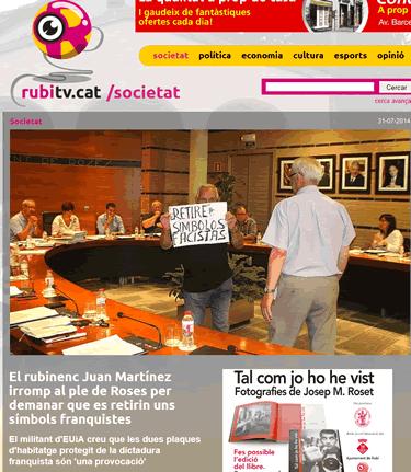 Rubítv.cat es fa ressò de la noticia de Viladeroses.cat