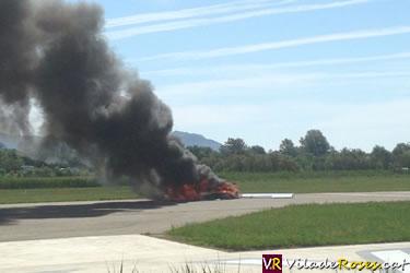 Avioneta accidentada a Empuriabrava