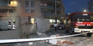 Mur a la Rambla Riera Ginjolers esfondrat
