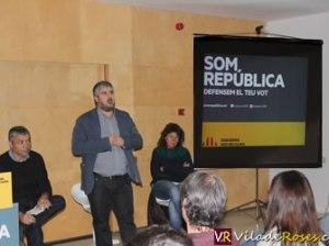 Acte de campanya d'ERC al Teatre de Roses