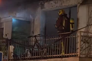 Incendi en un pis de la Marca de l'Ham de Figueres