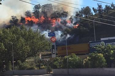 Foc a La Jonquera