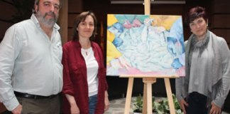Donació quadre 'Peixos de mar' a Roses