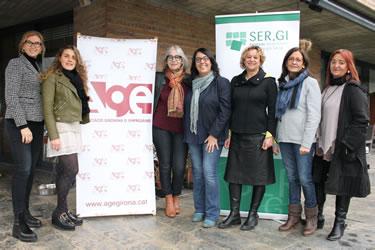 Associació Gironina d'Empresàries amb la Fundació SER.GI