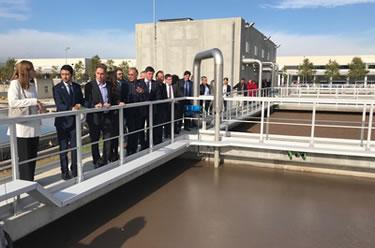 Inauguració de les obres d'ampliació de la depuradora de Figueres