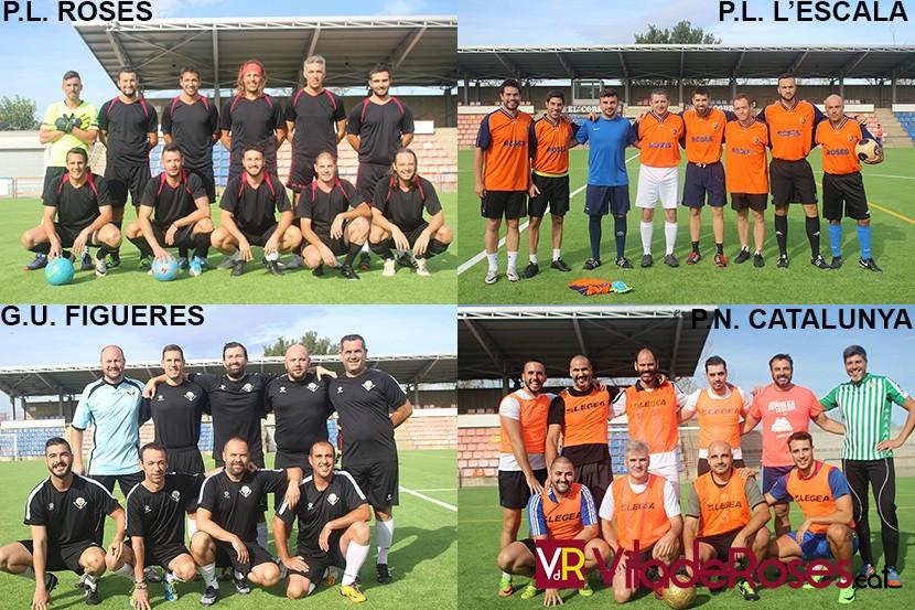 Torneig de futbol a Roses dels diferents cossos de seguretat