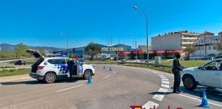 Policia Local de Roses controla el confinament