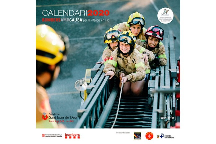 Calendari 'Bombers amb causa'
