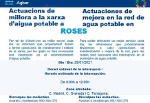 Tall de subministrament d'aigua potable a Roses