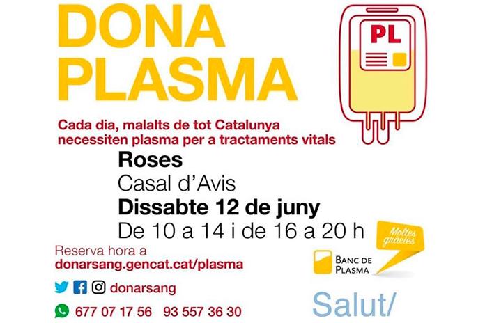 Donació de plasma a Roses