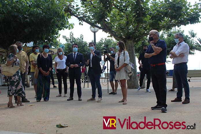 Visita President Pere Aragonés a Roses