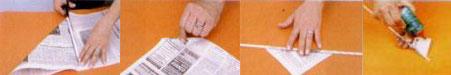 Como fazer os canudos de jornal