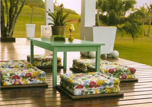 Cantinho oriental-tropical na varanda, sugestão Butzke