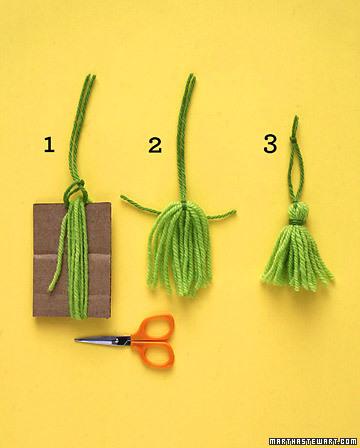 Vassourinhas de fio de lã