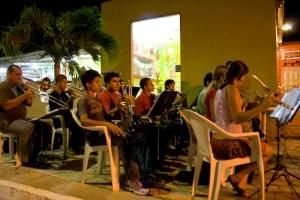 Grupo de músicos do Sementes do Amanhã