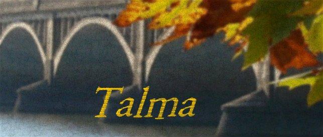 Capa do blog da Talma, com a ponte mauá