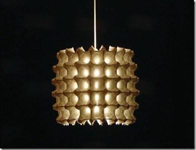 Luminária de caixa de ovos