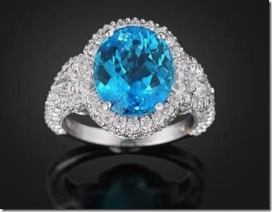 A rara Turmalina Paraíba adornada com diamantes