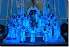 Coroação de Nossa Sra no altar da Igreja