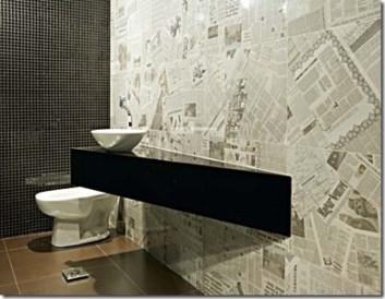 Jornal com função de papel de parede
