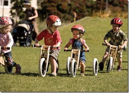 Bicicleta com design especial para crianças